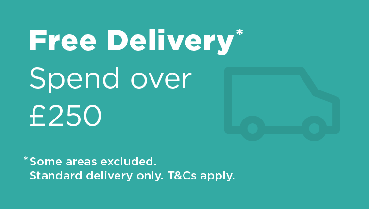 Free delivery - Spend over £250. Some areas excluded. Standard delivery only. Terms and conditions apply.